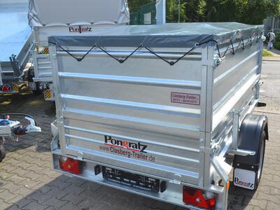 Mietanhänger 7 Aufsatz 1300 Kg 2230x1250x1000 mm