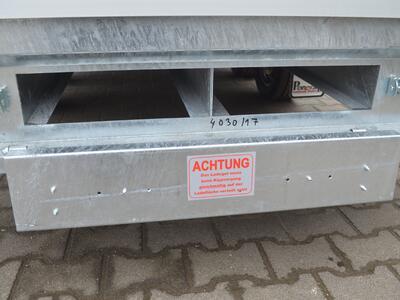 Mietanhänger 11 Hochlader 2600 Kg 3010x1760x300 mm