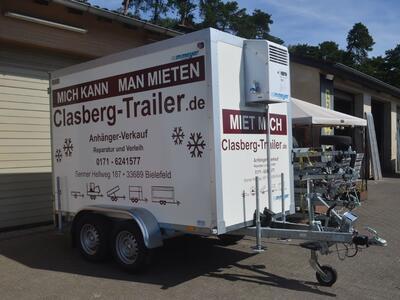 Mietanhänger 13 Kühlkoffer 2700 Kg 2950x1780x2000 mm