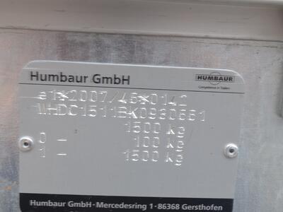 Humbaur HN 152616