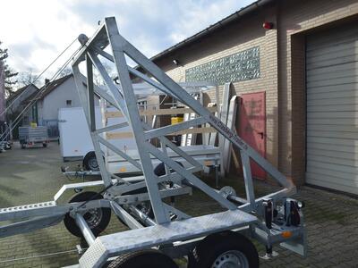 TA-NO Kabeltrommelanhänger 3500 kg Handseilwinde