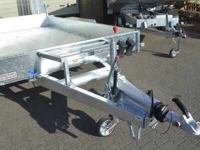 Humbaur HS 353718 Baumaschienentransporter Aluboden